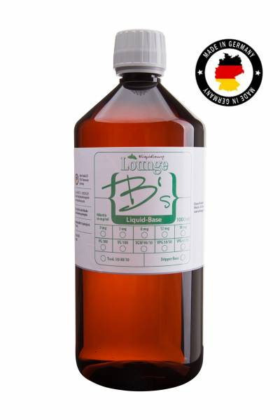 Glycerin VG 100 Liquid Base mit Nikotin 1000 ml