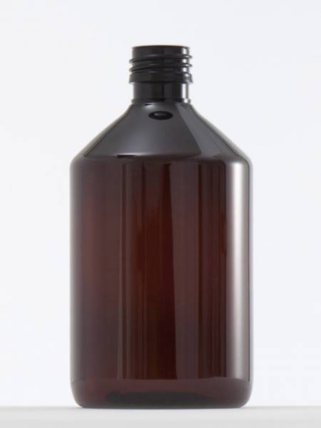 Basenflasche - 500 ml PET braun